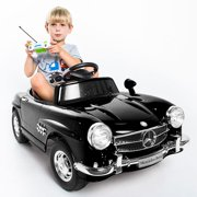 costway black mercedes benz 300sl amg rc electric toy kids baby ride on car image 1