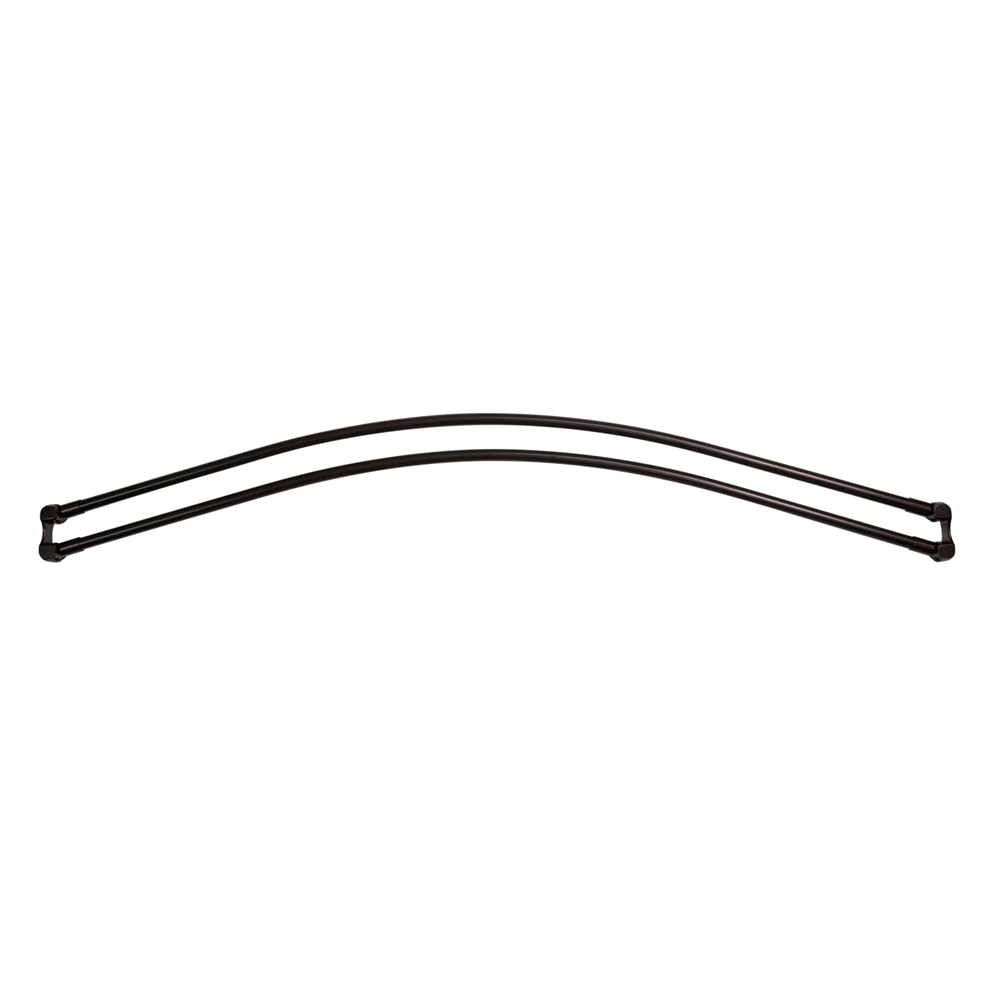 7110D 60 ORB Double Curved Shower Curtain Rod Oil Rubbed Bronze