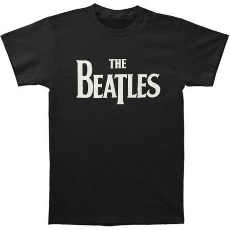 Beatles Men's  Solid Logo T-shirt Black - Beatles Outfit