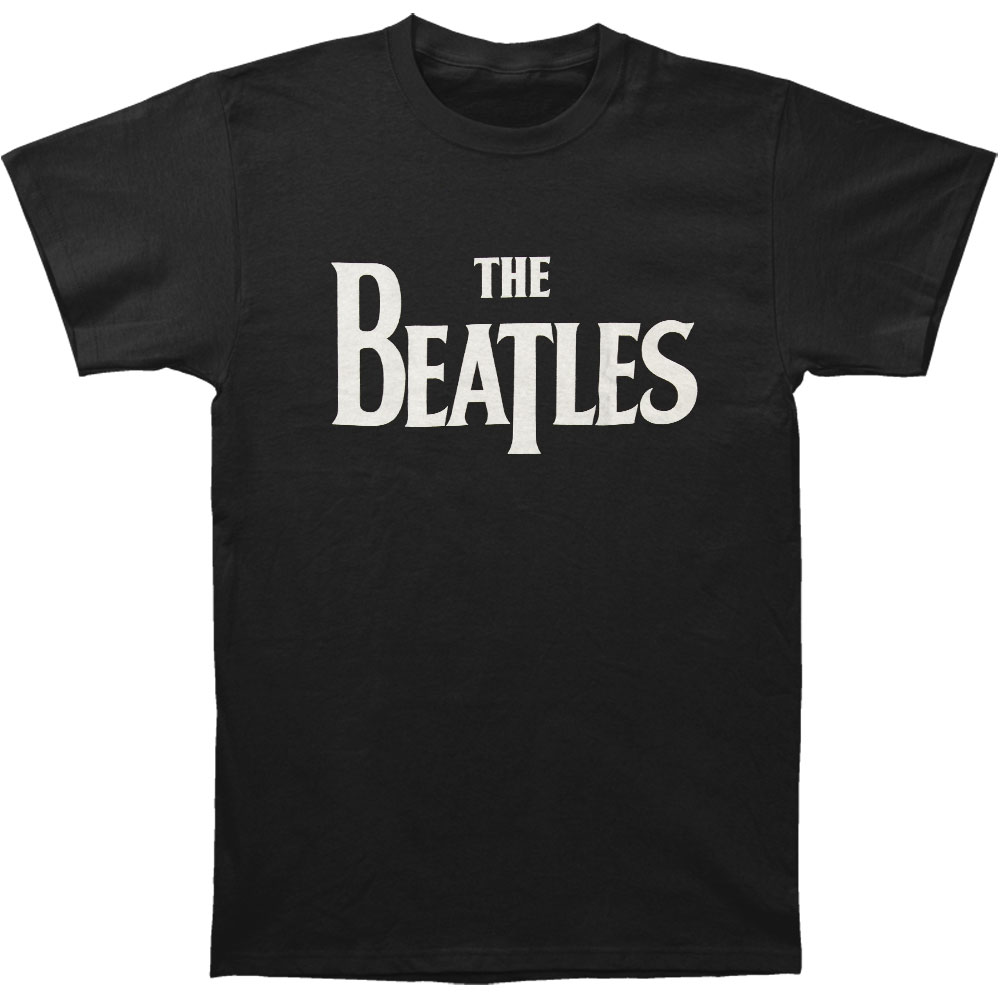 Beatles Men's  Solid Logo T-shirt Black