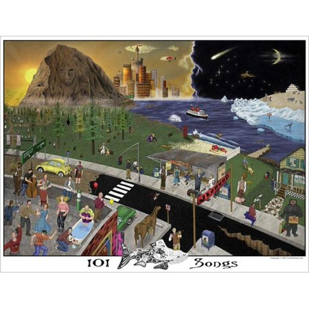 Buyartforless 101 Phish Songs Hidden Pictures 31x24 Music Art Print Poster College Dorm Room