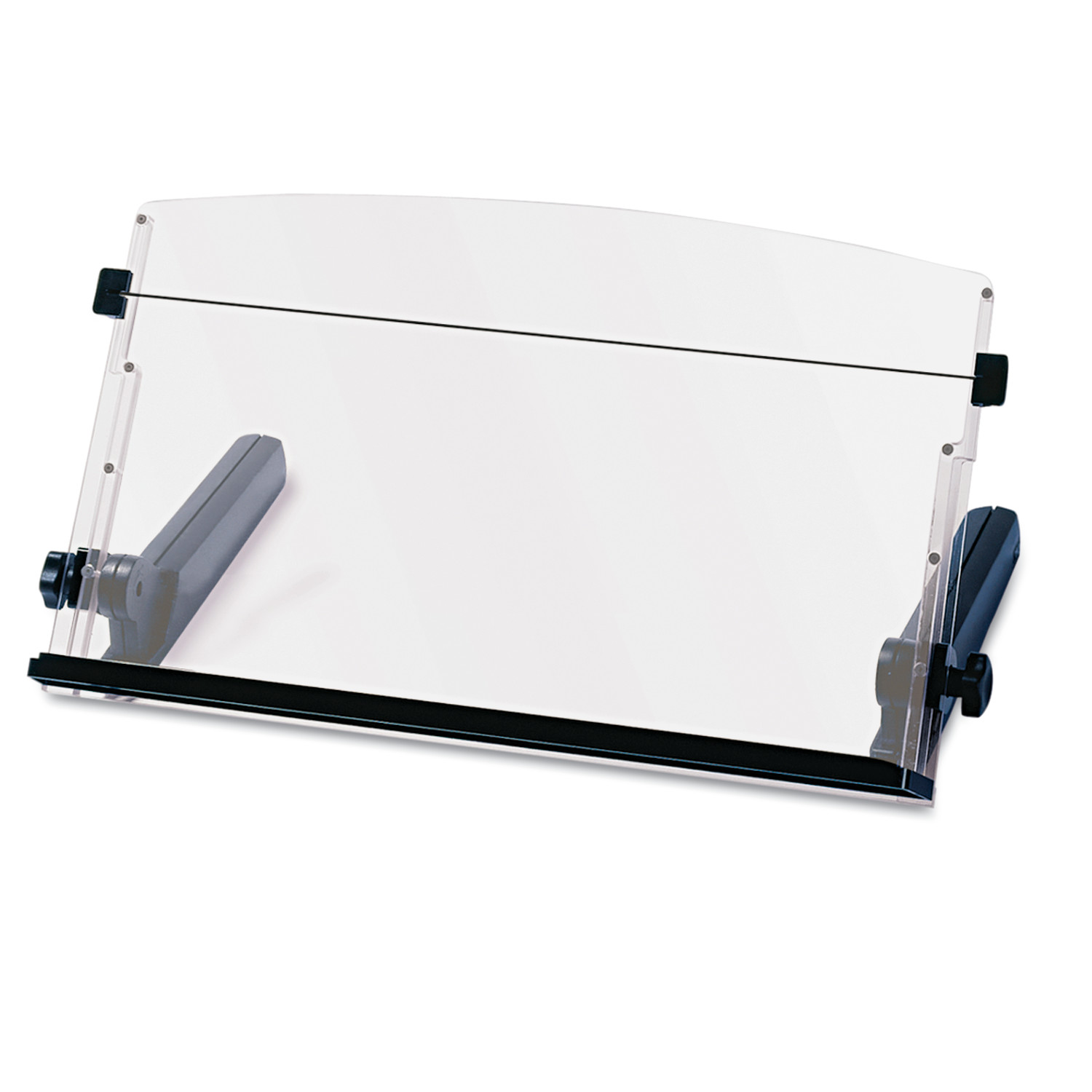 3M In-Line Freestanding Copyholder, Plastic, 300 SHeet Capacity, Black Clear by 3M/COMMERCIAL TAPE DIV.
