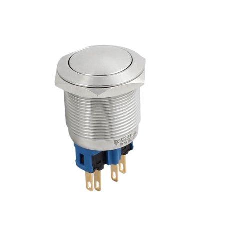 Montage 22 mm diamètre acier inoxydable verrouillage bombés Interrupteur bouton-poussoir métal - image 4 de 7