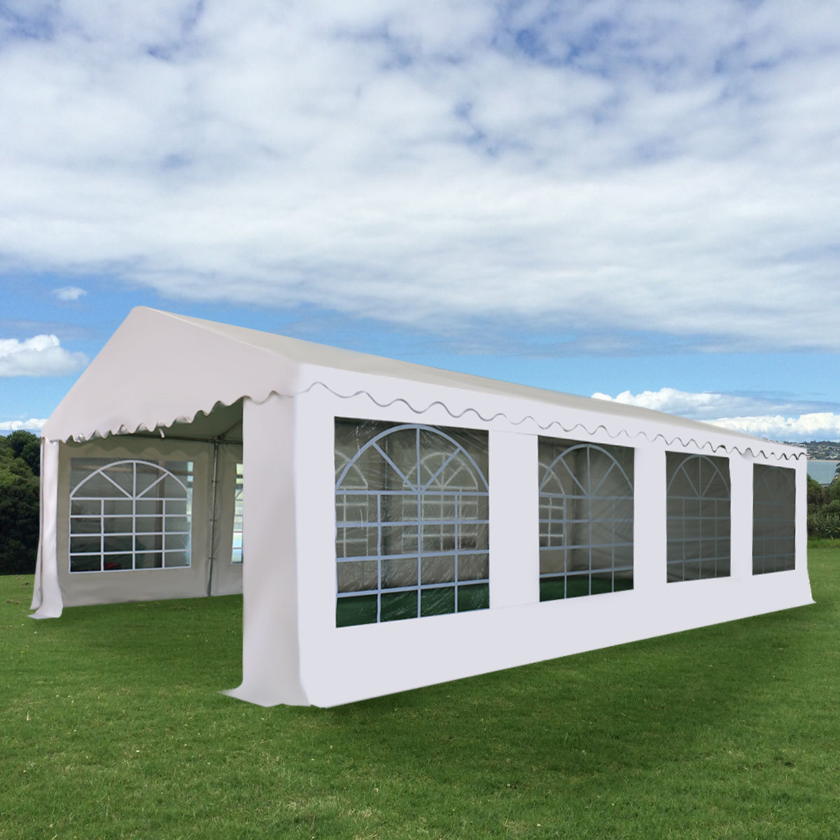 Click here to buy Costway 16 2 5'X26' Wedding Tent Shelter Heavy Duty Outdoor Party Canopy Carport White by Costway.