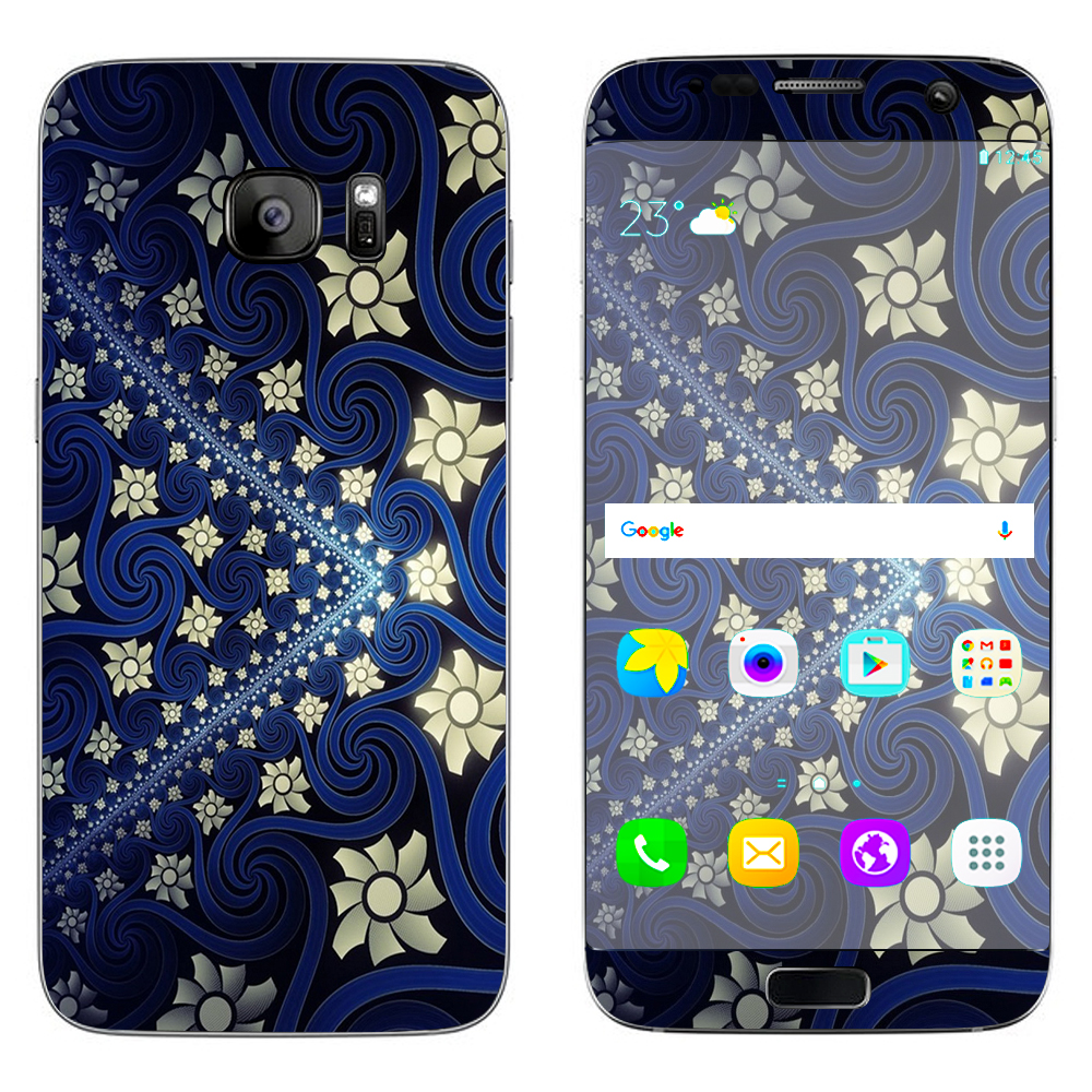 Skins Decals For Samsung Galaxy S7 Edge / Flowers And Swirls