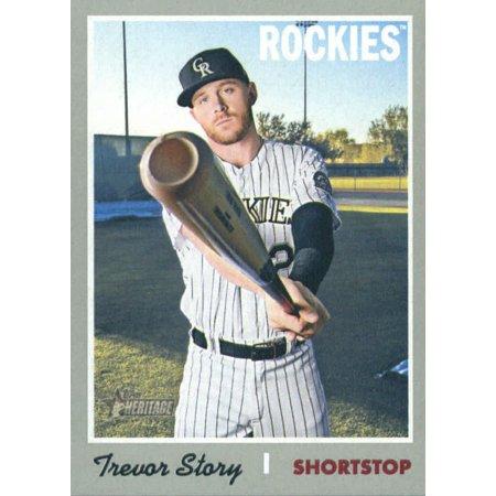 2019 Topps Heritage 469 Trevor Story Colorado Rockies Sp Baseball Card
