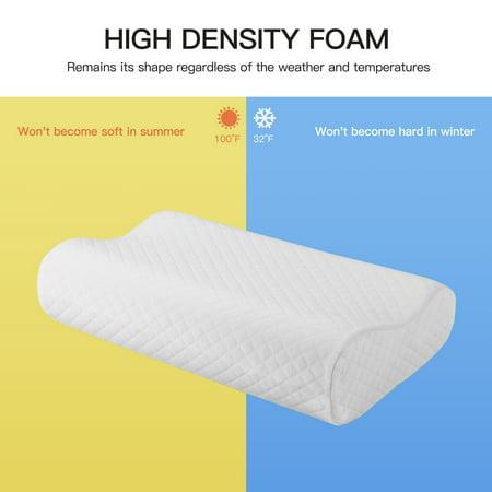 Sleep Contoured Memory Foam Pillow Neck Support Pillow Standard Size 50 x 30 x 12/10cm - image 1 de 8