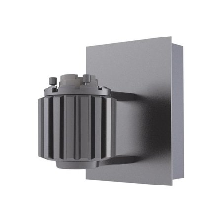 Aperture Wall Light - jesco lighting aw09-g12-mh39 9 in. canopy & husk for aperture wall sconce - grey