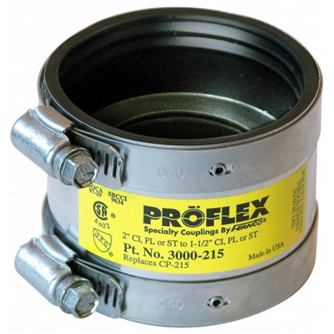 Fernco Inc 2in. X 1-.50in. Proflex Coupling  P300-215 - image 1 of 1