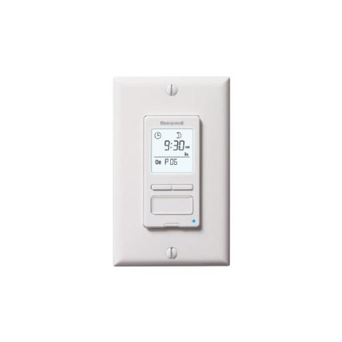 Honeywell RPLS540A1002/U ECONOSwitch Programmable Light Switch Timer (White)