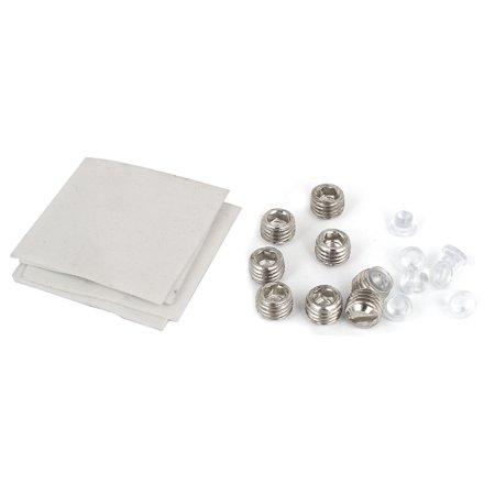 90 Degré douche porte en verre collier argent double charnière ton 2Pcs - image 1 de 3