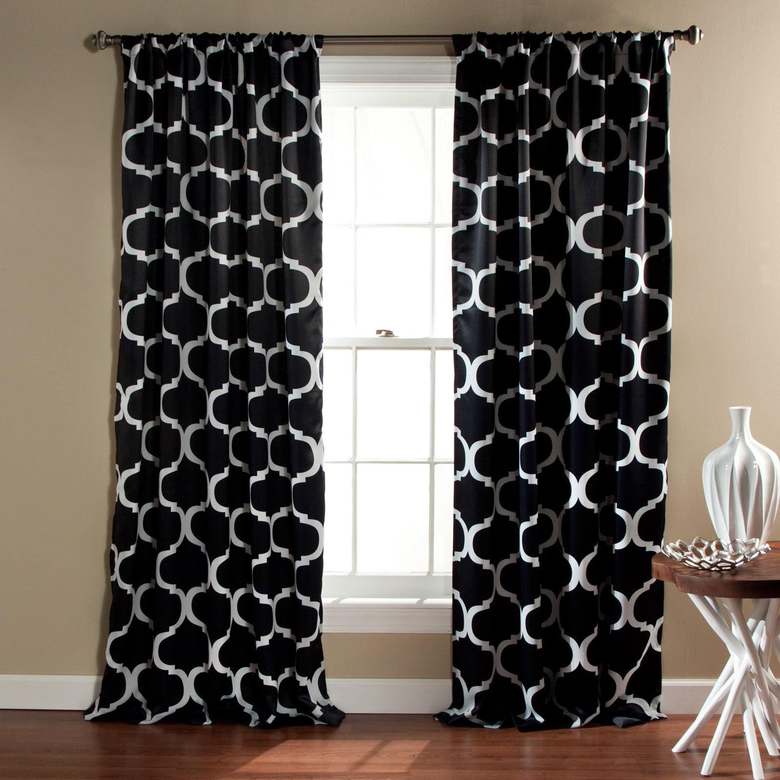 Blue geometric curtains - Blue Geometric Curtains 40