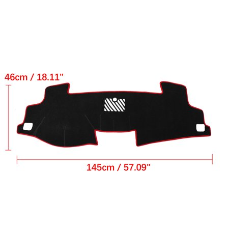 Car Dashboard Cover Nonslip Black Red Dash Mat Sun Pad for 12-17 Toyota Camry - image 1 de 4