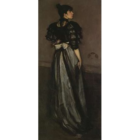 Mother Of Pearl And Silver The Andalusian 1888 Poster Print by James McNeill Whistler