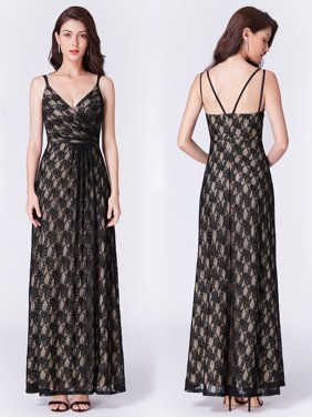7ff246160602 Product Image Ever-Pretty Women s V-Neck Elegant Lace Black Long Formal  Evening Mother of the