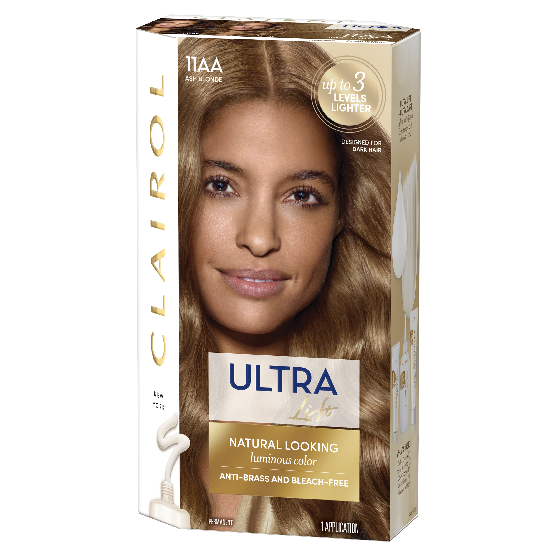 Clairol Ultra Lift Anti Brass Luminous Hair Color Ash Blonde 11aa