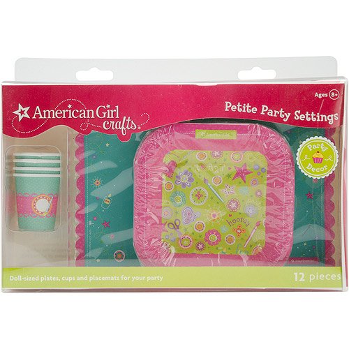 American Girl Doll Size Plates Cups and Placemats