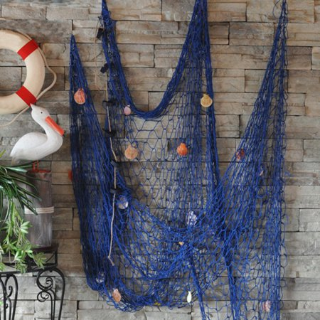 Fishing Net Decor,Fishing Net, Wall Hangings Decor,Mediterranean Style Photographing Decoration - White Fishing Net