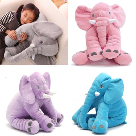 Soft Stuffed Elephant Lumbar Cushion Kids Baby Sleeping Pillow Toy Gifts