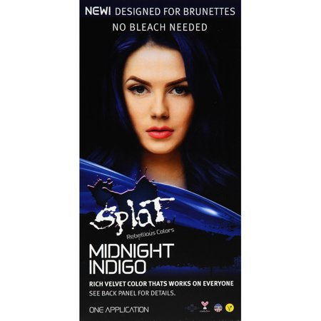 Splat 30 Wash No Bleach Semi-Permanent Hair Dye Midnight Indigo