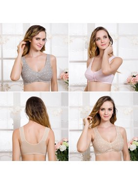 2c3ee680e0 Product Image Women Button Front Closure Feeding Nursing Bra Maternity  Breastfeeding Bras