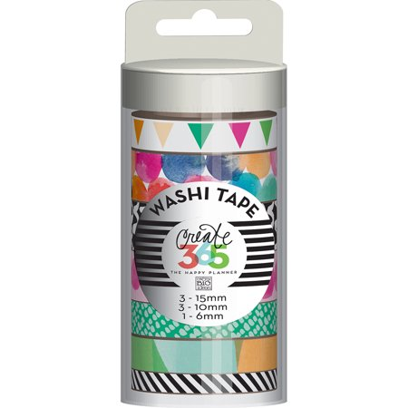 Create 365 Happy Planner Washi Tape 7/Pkg-Watercolor