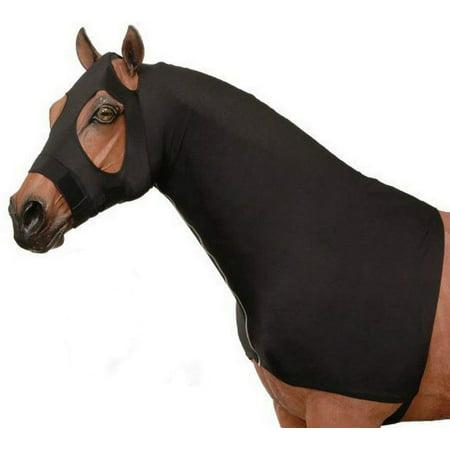 Mane Stay Hood (Horse Medium Mesh Lycra Slinky Mane Stay Hood Zipper 52037 )