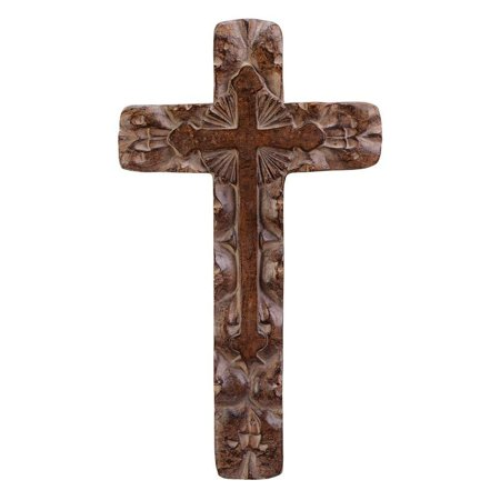 Wall Cross Decor (Gifts & Decor Classic Rustic Wall Cross, Polyresin By Gifts)