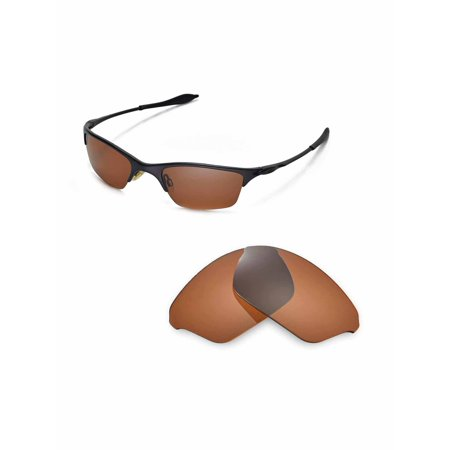 7351cdeeb85 Walleva - Walleva Brown Polarized Replacement Lenses for Oakley Half Wire  XL Sunglasses - Walmart.com