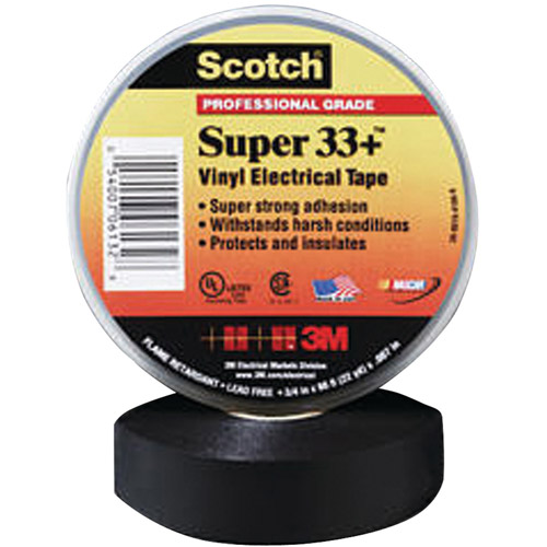 "Scotch 33+ Super Vinyl Electrical Tape, 3/4"" x 52ft"