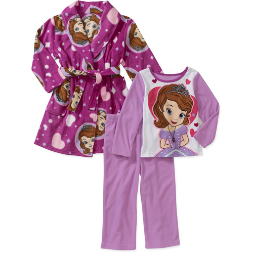 Baby Girls' 3 Piece Character Robe and PJ Set