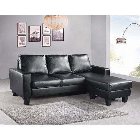 LYKE Home Reversible Apartment Sofa Chaise White - Walmart.com