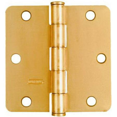 Stanley N186-916 3.5 x 3.5 in. Dull Brass Residential Door Hinge, 2 Pack Residential Steel Hinge