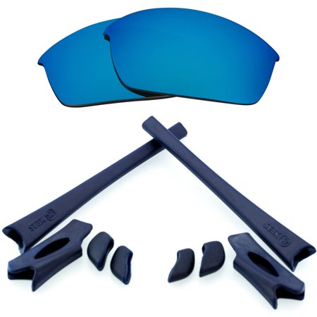 FLAK JACKET Lenses & Accessories Kit Blue Mirror & Navy Blue by SEEK fits - Flack Jacket