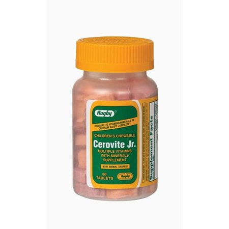 Chew Tablets - Rugby Cerovite Jr Chew Tablet Ascorbic Acid-60 Mg Various 60 Tablets Upc 005363443082