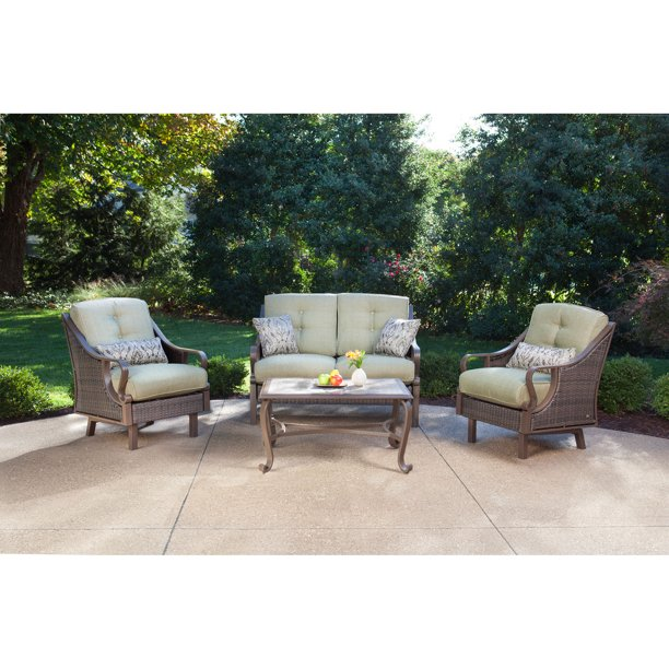 Hanover Ventura 4 Piece Outdoor Patio, Patio Furniture Ventura Ca