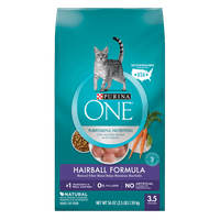 Purina ONE Hairball Formula Adult Dry Cat Food, 3.15 lb