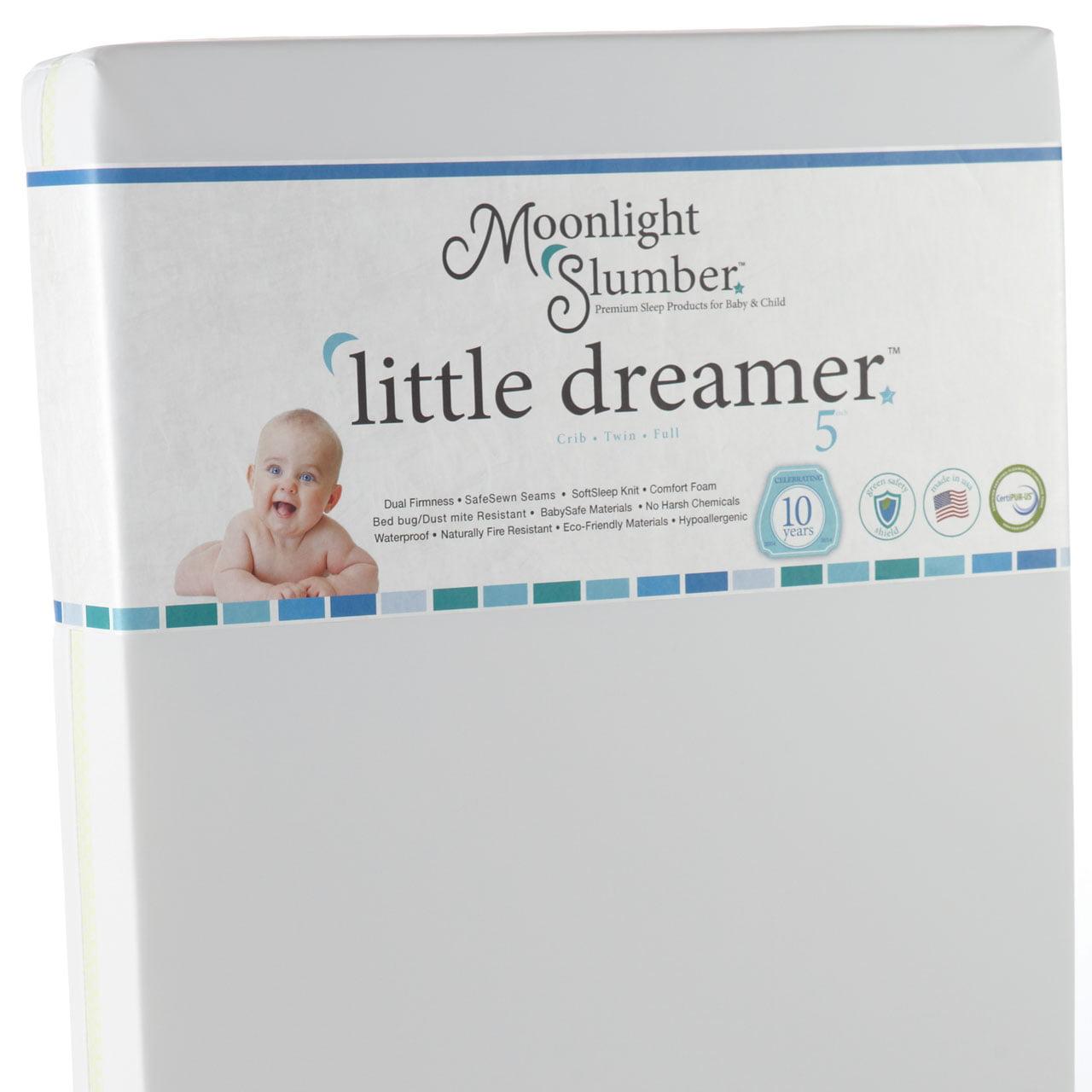 Moonlight Slumber Little Dreamer Dual Surface All Foam Crib Mattress