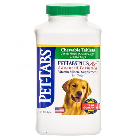Pet Tabs Plus Af Advanced Formula Vitamin Mineral Supplement For Dogs - 180 Tablets ()
