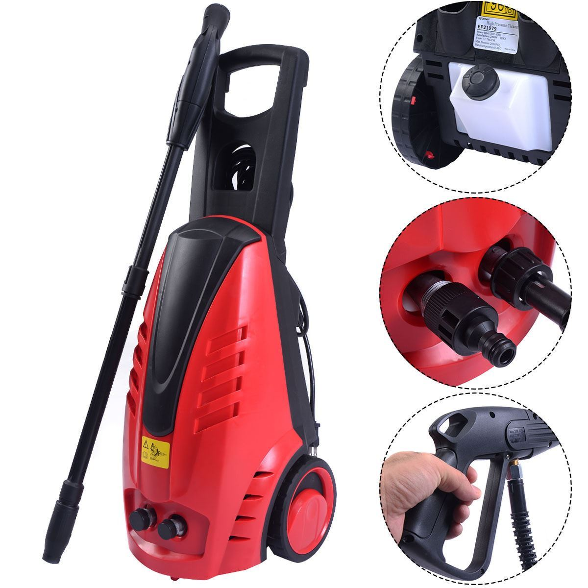 High Pressure Heavy Duty 2030PSI Electric Washer 2000W 1.76GPM Jet Sprayer