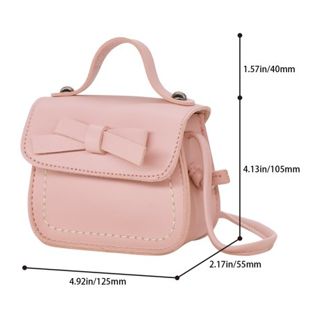 353647ea7e7 HDE Small Fashion Purse for Little Girls Light Pink Toddler Kids Bag Cute  Bow (Pink ...