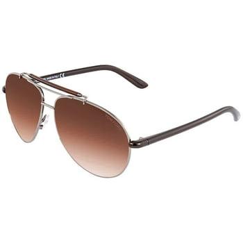 Tom Ford Gradient Brown Aviator Sunglasses