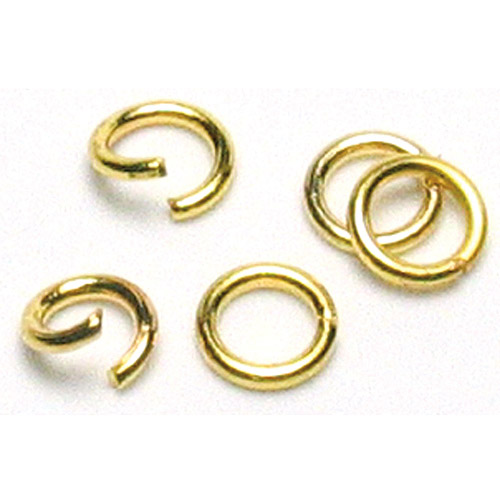 Cousin Jewelry Basics Metal Findings Jump Rings, 4mm, 500pk