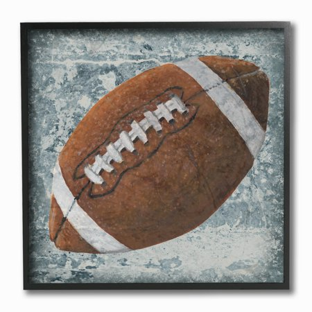 The Kids Room by Stupell Grunge Sports Equipment Football Framed Giclee Texturized Art, 12 x 1.5 x 12