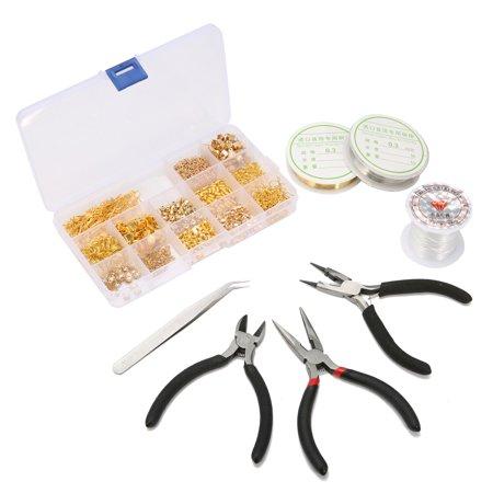 Luckyfine Jeteven DIY Earings Jewelry Supplies Make Jewelry Beading Kit for Jewelry Making Findings