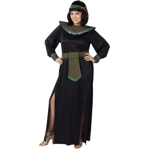 midnight cleopatra adult plus halloween costume, size: women's 16