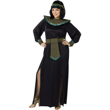 Midnight Cleopatra Adult Plus Halloween Costume, Size: Women's 16-20 - One Size - Cleopatra Adult Halloween Costume