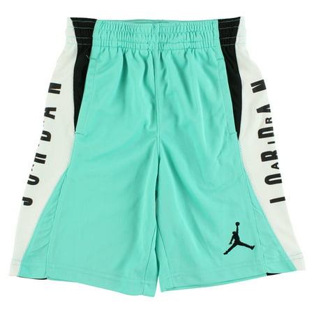 978fd517fdc Jordan Boys Flight Diamond Knit Shorts Aqua Blue - Walmart.com