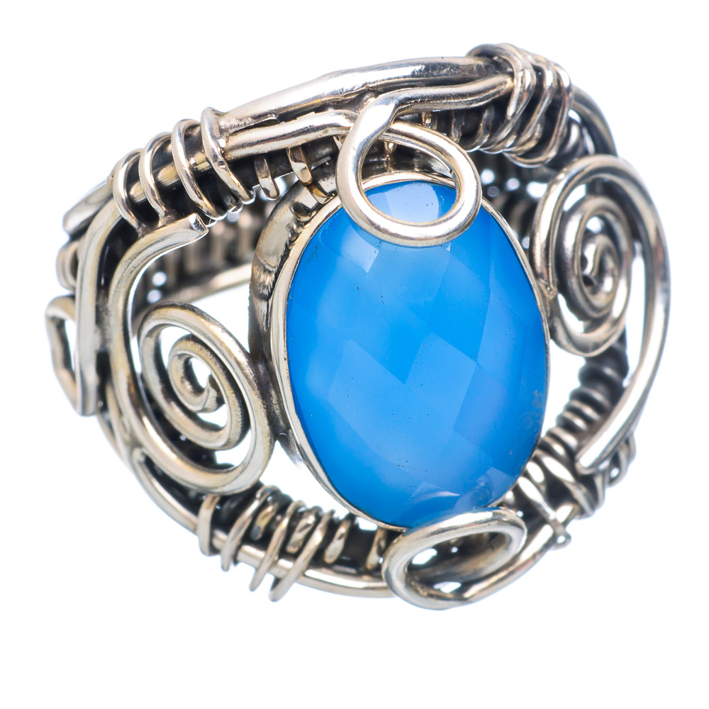 Ana Silver Co Chalcedony 925 Sterling Silver Ring Size 7 Handmade Jewelry RING854571 by Ana Silver Co.