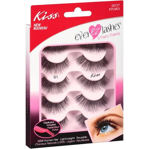 Kiss Ever EZ Lashes Eyelashes, 5 Ct